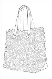 Coloring Page For Adults Bag With Pattern Art Therapy Line