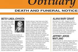 Newspaper Obituary Template Sample Obituary Formats Lovetoknow