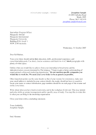 University Cover Letter Examples 15 Student Example