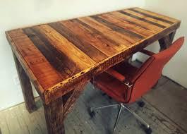 pallet desk reclaimed wood furniture fringe focus