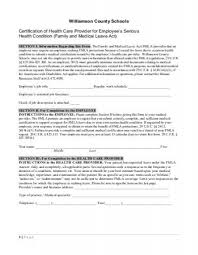 Fmla Form Stunning FMLA Employee Form Williamson County Schools