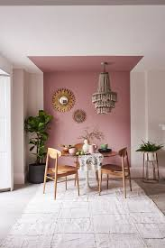room with shades of pink dulux