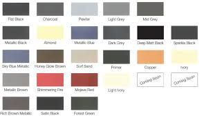 view our colour chart