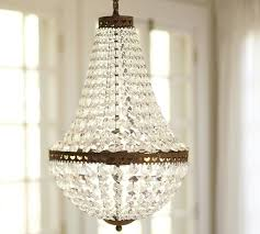 amazing crystal pendants for chandeliers mia faceted crystal chandelier pottery barn