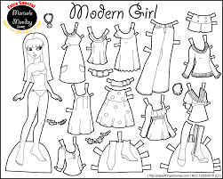 Small Picture Marisole Monday Modern Girl In Black White Dolls Printable