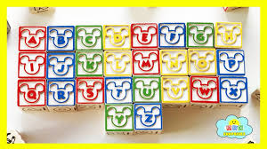 learn abcs and 123s with disney classic my first wooden blocks playset and alphabet for kids
