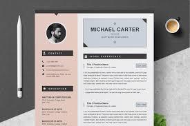 Landed Design Studio Modern Resume Template Modern Resume Cv Template 3 Pages