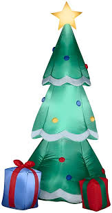 christmas trees decorated with presents.  Presents Gemmy Airblown Inflatable Christmas Tree Decorated With Ornaments And  Presents Beside It  Indoor Outdoor Holiday On Trees S