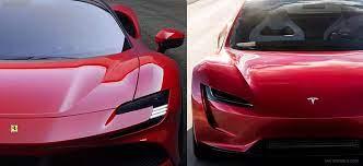 Supercar Smackdown Tesla Roadster Vs Ferrari Sf90 Stradale