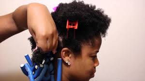 hair using flexi rod