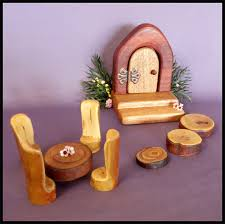 wooden fairy door with table and chair set eco friendly toys wooden tales madeit com au