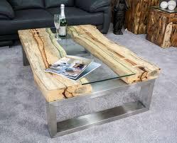 Sensationell Design Couchtisch Holz Glas Begriff 8882