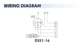 fantech 3 speed switch for ezifit in wall exhaust fan dss1 16 ss1 16 wiring diagram