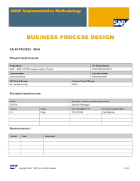 sales contracts sample sap sd business blue print e1 sales template