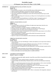 Collections Resume Examples Credit Collections Analyst Resume Samples Velvet Jobs 7