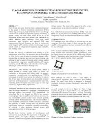 Smd Pad Design Pdf Via In Pad Design Considerations For Bottom Terminated