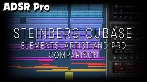 Cubase Version Comparison Chart Steinberg Cubase Artist Elements And Pro Features
