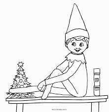 Color a picture and put him next to it with some crayons. Elf On The Shelf Coloring Sheet Unique Gallery Free Printable Elf Coloring Printable Christmas Coloring Pages Christmas Coloring Pages Coloring Pages For Kids