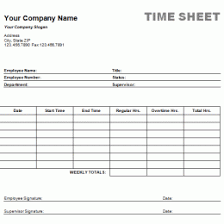 Time Card Sheets Free 40 Free Timesheet Time Card Templates Template Lab 232867910477