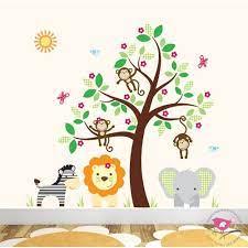large safari animal wall stickers for