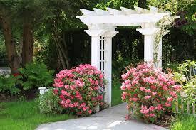white garden arbor landscaping network calimesa ca