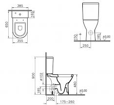 chair height toilet. vitra s50 raised height close coupled toilet (open back} inc soft seat chair e