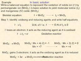 in basic solution