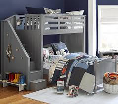 loft beds for kids pottery barn. Wonderful Kids Catalina Stair Loft Bed U0026 Lower Set To Beds For Kids Pottery Barn E