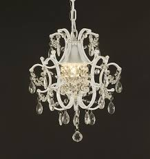 full size of astonishing clear glass crystal chandelier with white stained holder and white stained chain