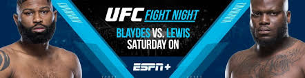 Blaydes vs lewis, live from las vegas on february 20, 2021. Ufc Fight Night Betting Blaydes Vs Lewis Saturday On Espn Odds