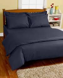 navy blue continental egyptian cotton duvet cover set 200 tc
