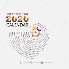 12 Months 2020 Calendar 2020 Calendar Template Calendar 2020 Set Of 12 Months Yearly