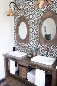 Master Bathroom Renovation- How to achieve a farmhouse style bathroom-  copper accents- rustic