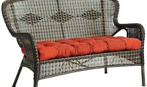 wicker settee cushion sets incredible small outdoor