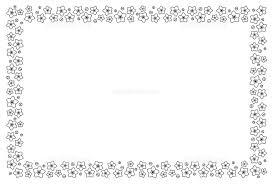 桃の花フレーム 白黒 イラスト素材 5460162 フォトライブラリー