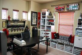 office craft room ideas. Various Craft Room Ideas On A Budget Storage Cabinet Ribbon Paper Scissors Studs Simple Office Home Organizing