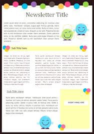 Free Teacher Newsletter Templates Kindergarten Newsletter Templates Free Formats Excel Word Missionary
