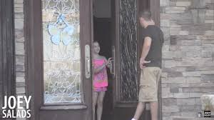 would your kids open the door to a stranger these kids did