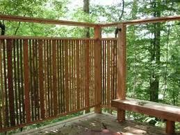 good hot tub privacy screen idea...I can hang the bamboo panels .