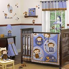 decoration: Enchanting Dark Wooden Baby Cradles With Cute Baby Monkey Quilt  Pattern Idea For Cradles
