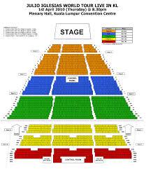 The Plenary Seating Chart Julio Inglesias Kl Convention Centre 1 04 10 Rentak