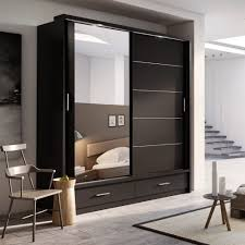 Modern Bedroom Doors Brand New Modern Bedroom Wardrobe 2 Sliding Doors With Mirror 2