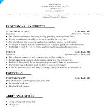 Cosmetologist Resume Sample Cosmetologist Resume Objective