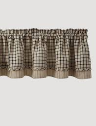 Park Designs Curtains And Valances Stoneboro Black Lined Layered Valance