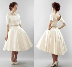 Tea Length Wedding Dresses Vintage Weddingcafeny Com