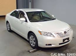2007 Toyota Camry White for sale | Stock No. 52653 | Japanese Used ...