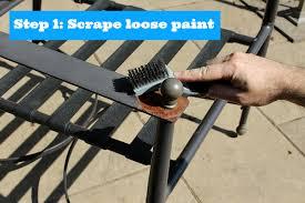painted metal patio furniture. Step 1 Scrape Loose Paint Painted Metal Patio Furniture I