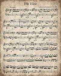 printable vintage sheet music fur elise printable vintage sheet music instant download