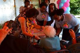 First Lady tells residents at Millicent Greaves home to savour each new day  – at fifth anniversary reception – Office of the President