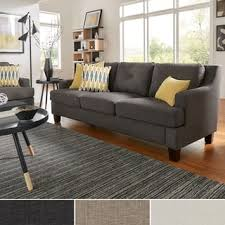 studio living room furniture. Elston Linen Tufted Sloped Track Sofa INSPIRE Q Modern Studio Living Room Furniture